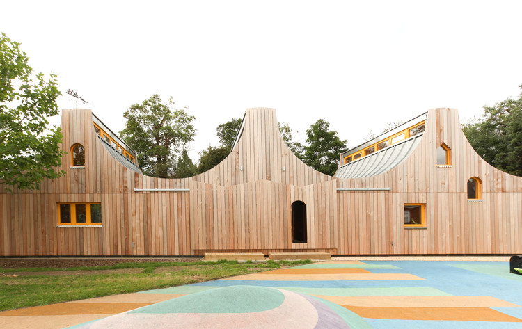 93-Building Shortlist Announced for 2018 RIBA London Awards, Belvue School Woodland Classrooms / Studio Weave Ltd.. Image © Studio Weave