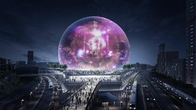 Madison Square Garden divulga imagens de sua arena de eventos esférica em Londres, Cortesia de The Madison Square Garden Company
