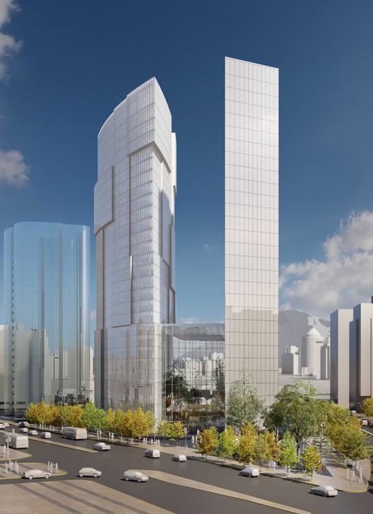 """""""The Garden"""" propuesta de A4 Arquitectos para el Concurso Puerta Las Condes, Cortesía de INDESA"""
