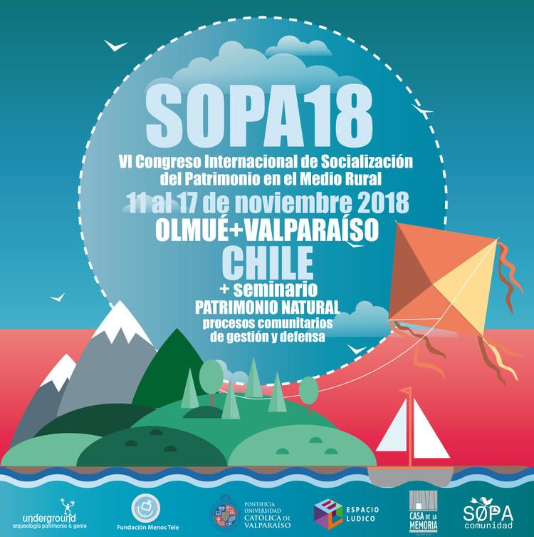 SOPA18: VI Congreso Internacional de Socialización del Patrimonio en el Medio Rural, Afiche oficial del SOPA18