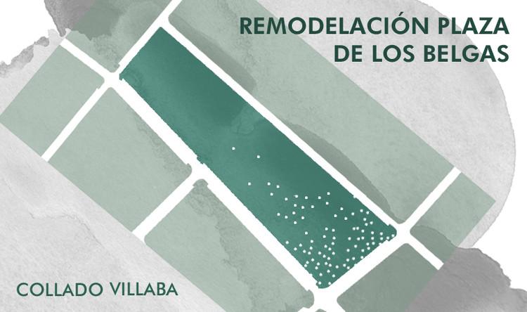 Abren concurso para remodelar la Plaza de los Belgas de Collado Villalba en Madrid, España, OCAM; Oficina de Concursos; COAM; Colegio Oficial de Arquitectos de Madrid