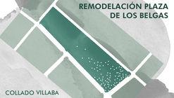 Abren concurso para remodelar la Plaza de los Belgas de Collado Villalba en Madrid, España