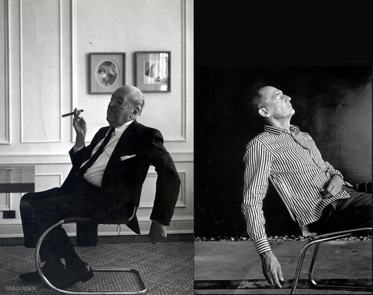 Comparando a Mies van der Rohe y Rem Koolhaas, Fotografía de Mies van der Rohe por Werner Blaser & fotografía de Rem Koolhaas por Maartje Geels.. Image Cortesía de Jorge Cárdenas