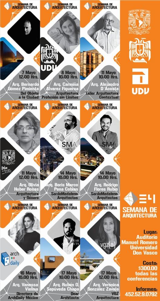 Universidad Don Vasco: 34 semana de arquitectura, Conferencistas invitados | Semana de Arquitectura 2018
