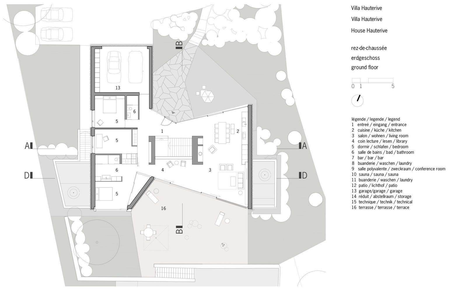 Exceptional House In Hauterive,Ground Floor Plan