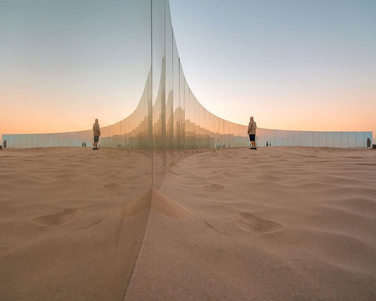 On Cottesloe Beach, Gjøde & Partnere Arkitekter Create a Floating Desert Island for Sculpture By The Sea, © Ross Duggan