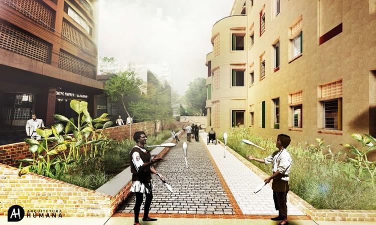 Projeto de habitação popular no centro de Porto Alegre é selecionado em edital de assistência técnica, © AH! Arquitetura Humana