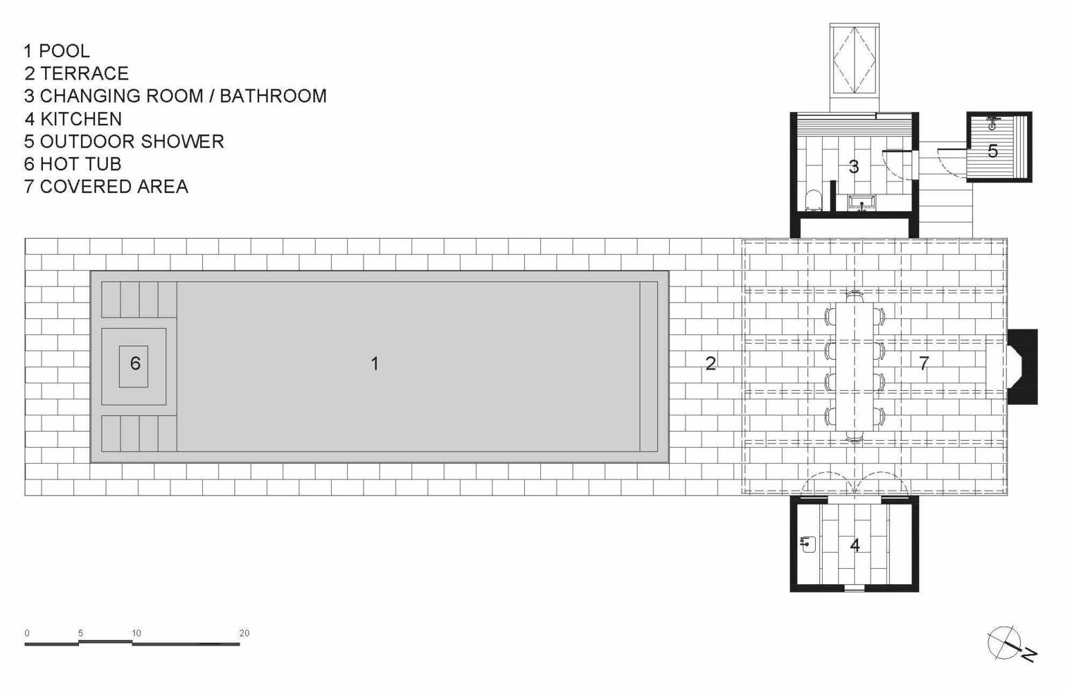Gallery of Further Lane Pool House Robert Young Architects 22 – Pool House Floor Plans With Bathroom