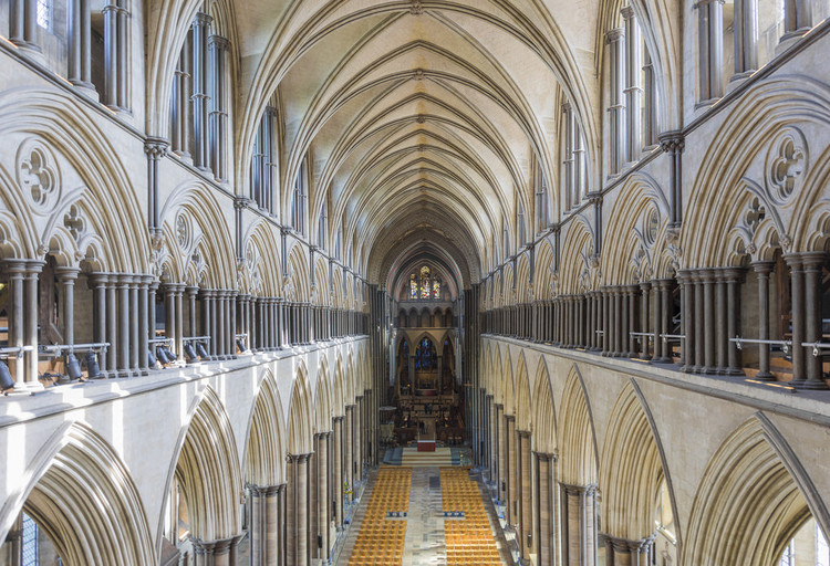 Is Religious Architecture Still Relevant?, Salisbury Cathedral. Image© <a href='https://www.flickr.com/photos/cathedraljack/37235357646'>Flickr user JackPeasePhotography</a> licensed under <a href='https://creativecommons.org/licenses/by/2.0/'>CC BY 2.0</a>