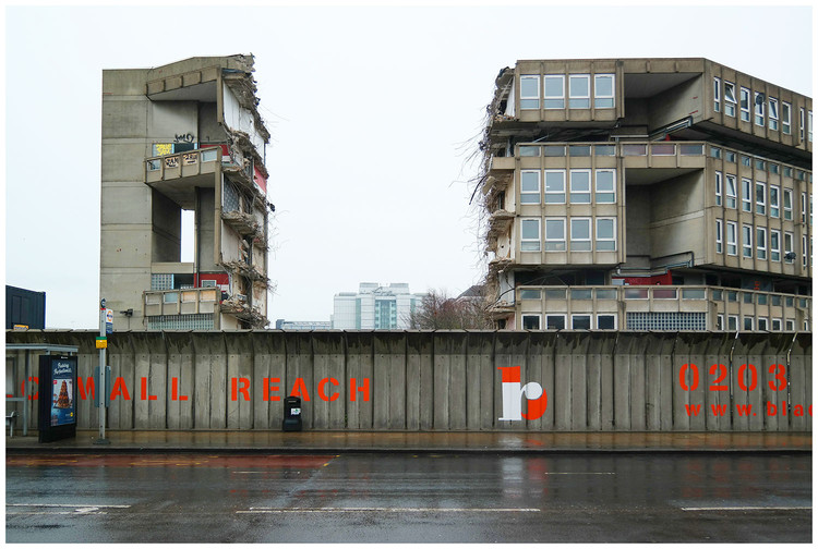 Exhibition: Brutal Destruction, Robin Hood Gardens, UK. Image © Oliver Wainwright