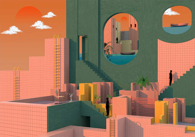 Tishk Barzanji's Illustrations Envision Complex Universes Inspired By Surrealism And Modern Architecture, © Tishk Barzanji