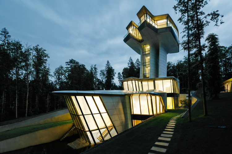 Zaha Hadid's Only Private Residential Project Rises Above A Russian Forest, Courtesy of OKO Group