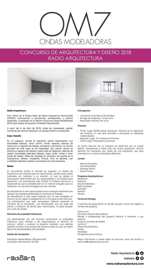 "Concurso ""Ondas Modeladoras"" No. 7 Radio Arquitectura, Radio Arquitectura"