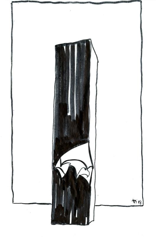 Facing Gaia Sketch. Image© Studio Libeskind
