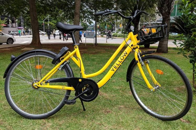 São Paulo terá sistema de compartilhamento de bicicletas sem estações, Modelo de bicicleta que será distribuído pelas ruas de São Paulo. Imagem: Yellow / Divulgação