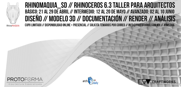 RhinoMAQUIA SD // Rhinoceros 6.0 Para Arquitectos