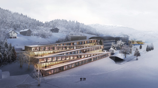BIG Unveils Images of Zig-Zag Ski Hotel in Switzerland