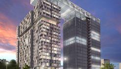 Propuesta de Alonso Balaguer Arquitectos, Soto Arquitectos y Espiral para el Concurso Puerta Las Condes