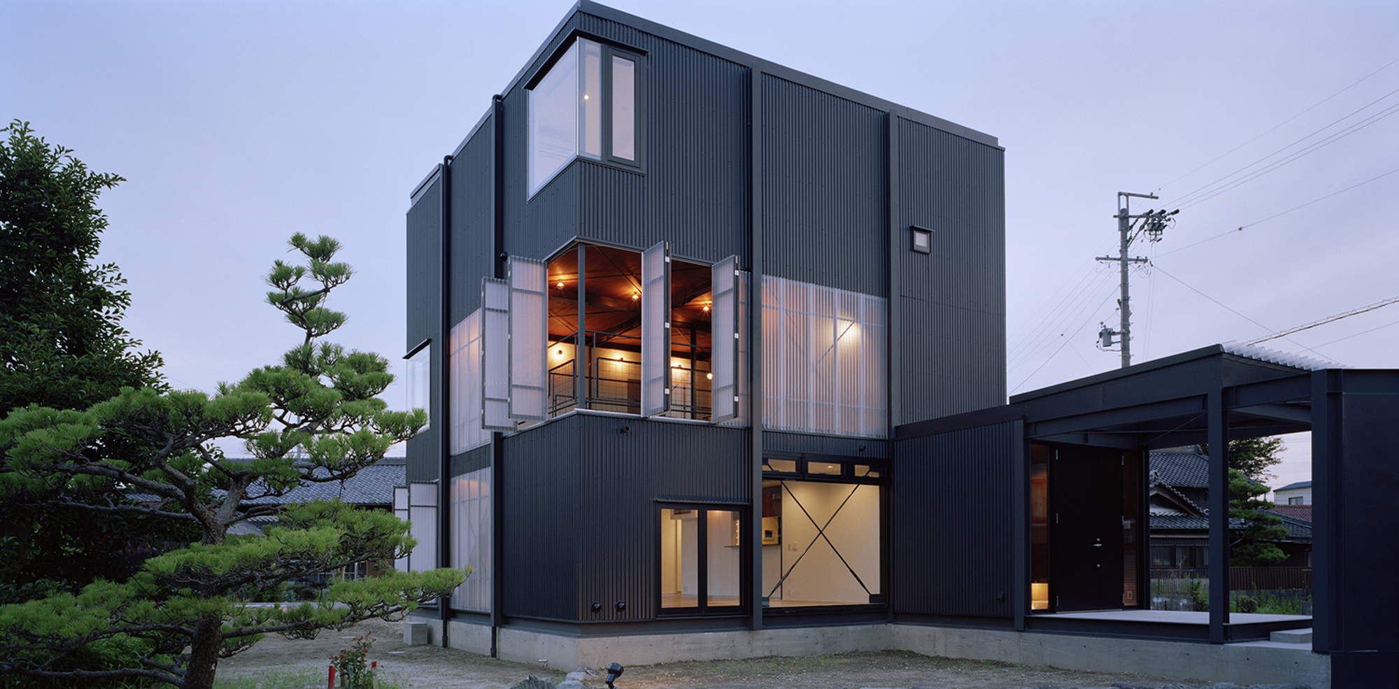 Corrugated Sheet House Daisuke Yamashita Architects Archdaily