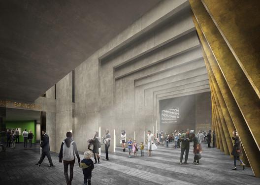 Adjaye Associates' Holocaust Memorial in Central London. Image © Adjaye Associates and Ron Arad Architects