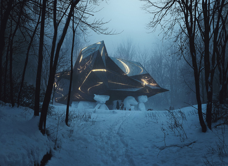 "Why Snøhetta's ""A House to Die In"" Is One of Norway's Most Controversial Construction Projects, Rendering of proposed design for A House to Die In, as seen ascending the hill. Image © MIR and Snøhetta"