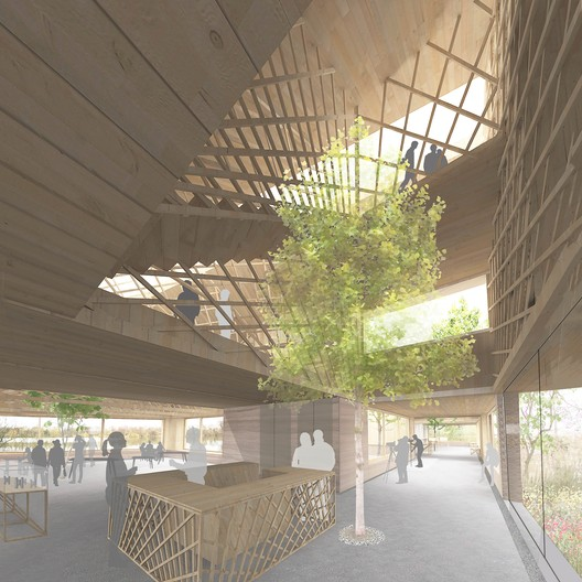 Nature and Wellbeing Center: Scheme A. Image Courtesy of RIBA