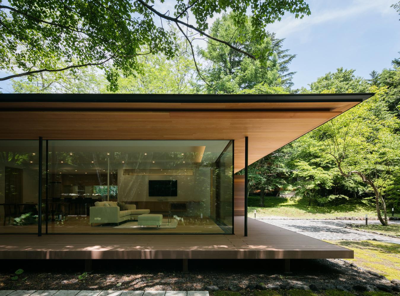 bentuk desain atap datar