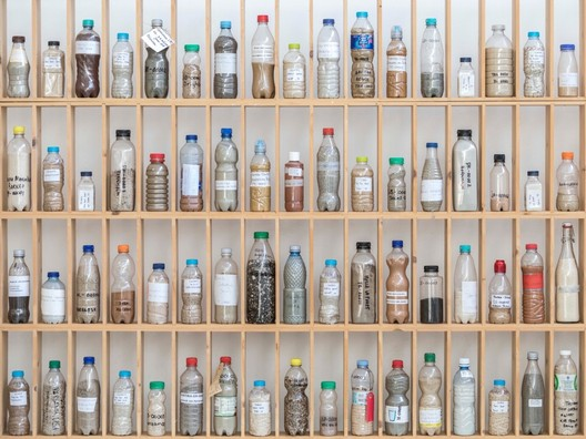 """Sand samples collected for Atelier NL's project <em>To See a World in a Grain of Sand</em>. Image Courtesy of Atelier NL"""" title=""""Sand samples collected for Atelier NL's project <em>To See a World in a Grain of Sand</em>. Image Courtesy of Atelier NL""""></a></noindex></noindex><br />   <small>Sand samples collected for Atelier NL's project <em>To See a World in a Grain of Sand</em>. Image Courtesy of Atelier NL</small><br /> </figure> </p> <p>As the demand for sand continues unabated, so do the worldwide problems associated with it. The multibillion-dollar industry is causing onshore sources to become depleted and sand miners are turning to less favorable supplies. Dozens of islands have already vanished in Indonesia, according to a <noindex><noindex><a target="""