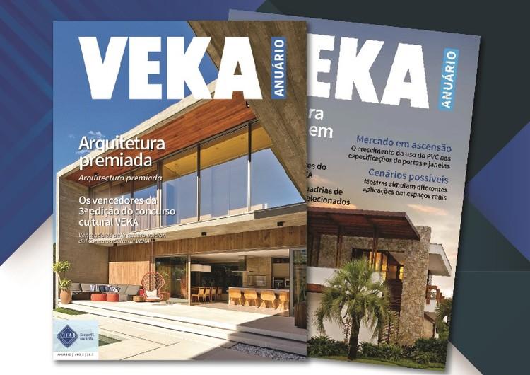 Inscrições abertas para o concurso cultural Veka Latin America, Na foto as duas primeiras edições do Anuário VEKA. Fotos de capa: Lio Simas