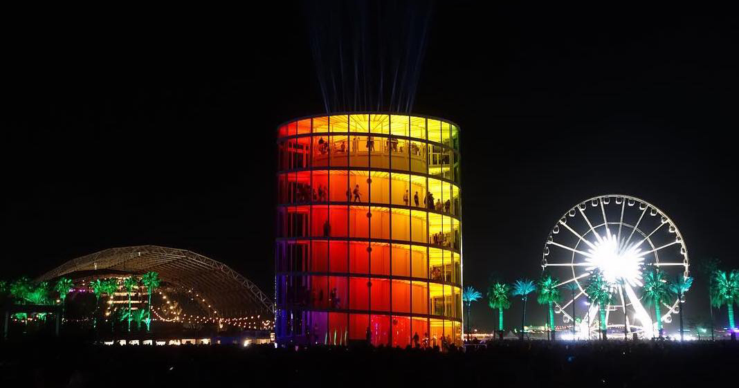 NEWSUBSTANCE's Coachella Pavilion Takes Visitors on a Journey of Light and Color