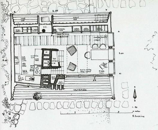 A casa como renúncia, Planta Casa 'The Box', Ladan, Suecia. 1941-1942 Ralph Erskine . Image