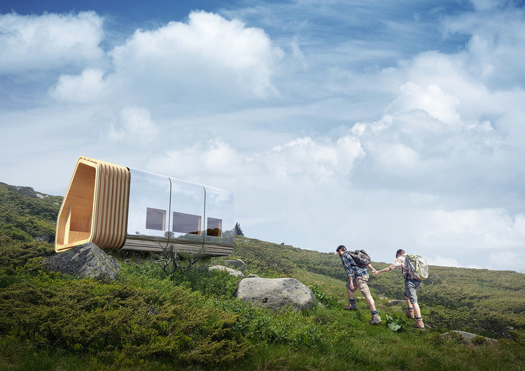 This Modular Mountain Shelter Is Net-Zero and Can Be Delivered via Helicopter  , Courtesy of Lusio Architects