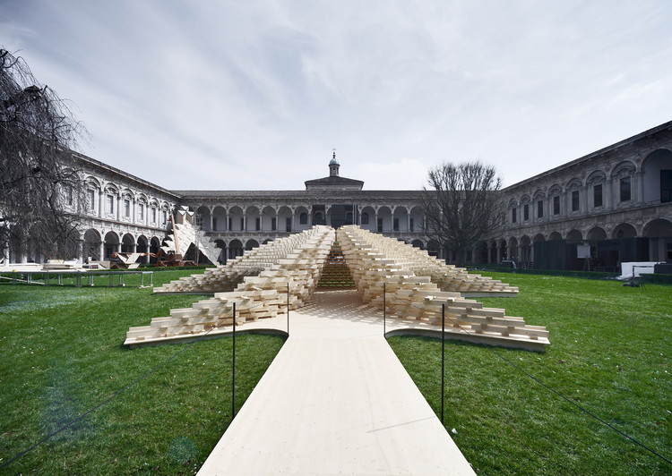 """Future Space"" Pavilion Salone del Mobile 2018 / Peter Pichler Architecture, © Oskar Dariz"