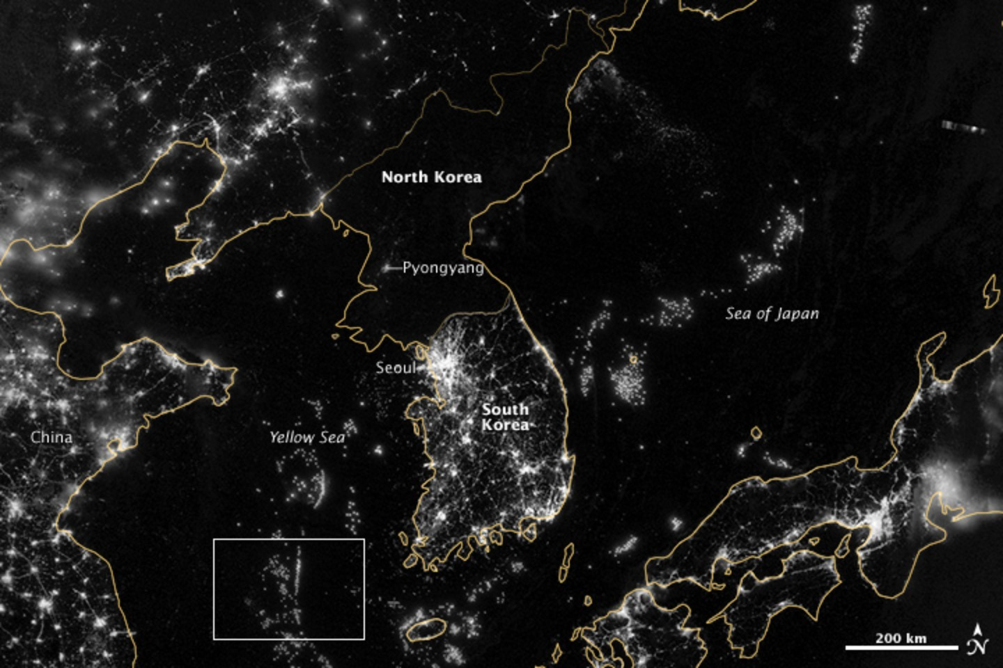 Gallery of how satellite images of the earth at night help us zoom image view original size gumiabroncs Gallery