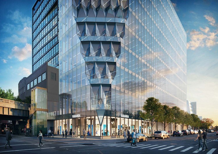 "Studio Gang's ""Solar Carve Tower"" Tops Out in New York City, Courtesy of Studio Gang"