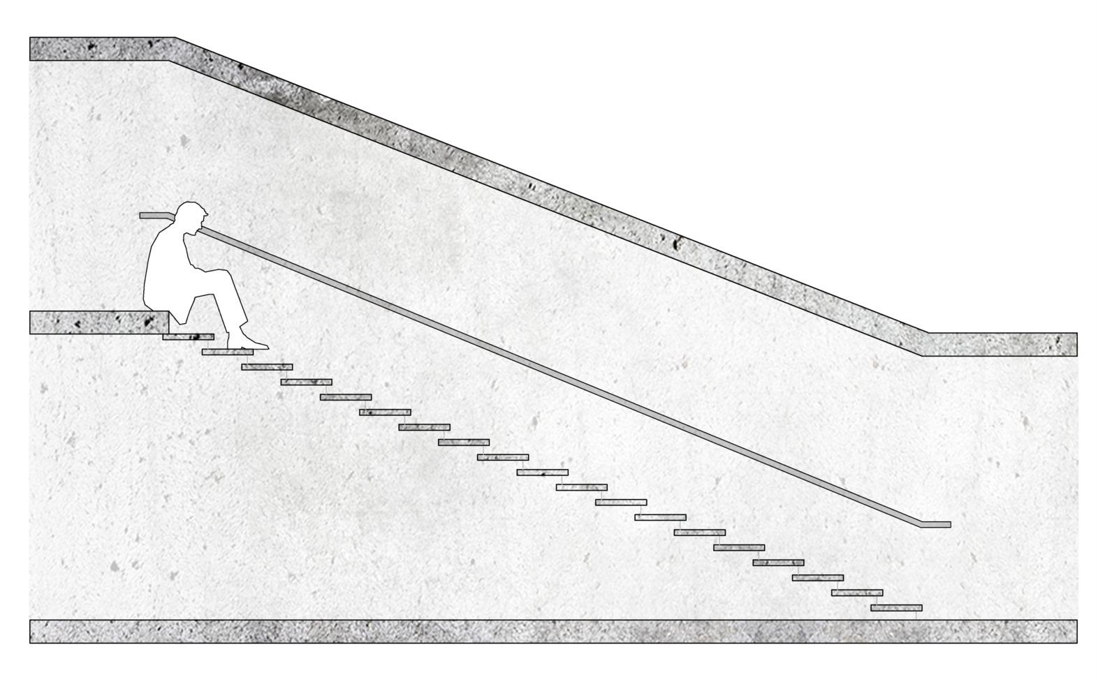 ¿Cómo diseñar y calcular una escalera?,Relación 39x13 cm / ejemplo esquemático. Image © José Tomás Franco