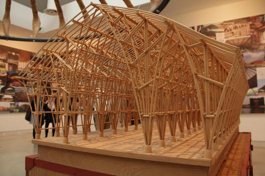 Maqueta de Templo sin religión, proyecto de Simón Vélez construido en bambú (guadua). Image Cortesía de Simón Vélez