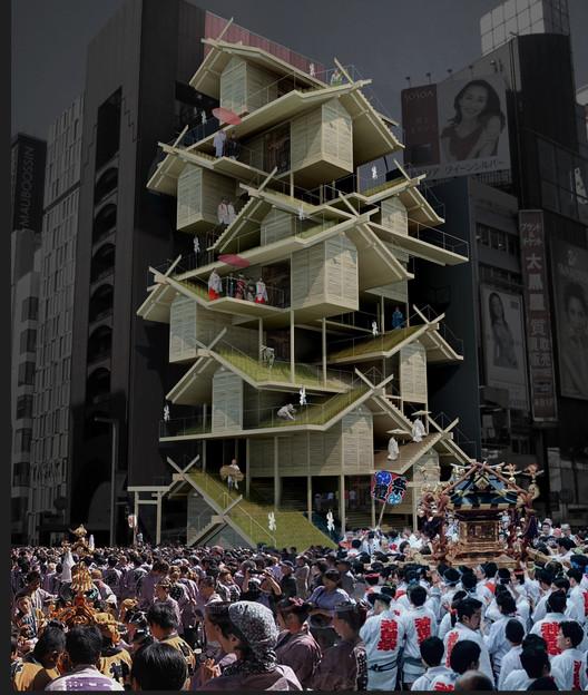 Shinto Shrine / Urban Rice Farming Skyscraper. Image Courtesy of eVolo