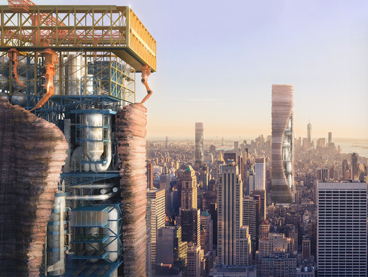 Additive Effect: 3D-printed Skyscrapers. Image Courtesy of eVolo