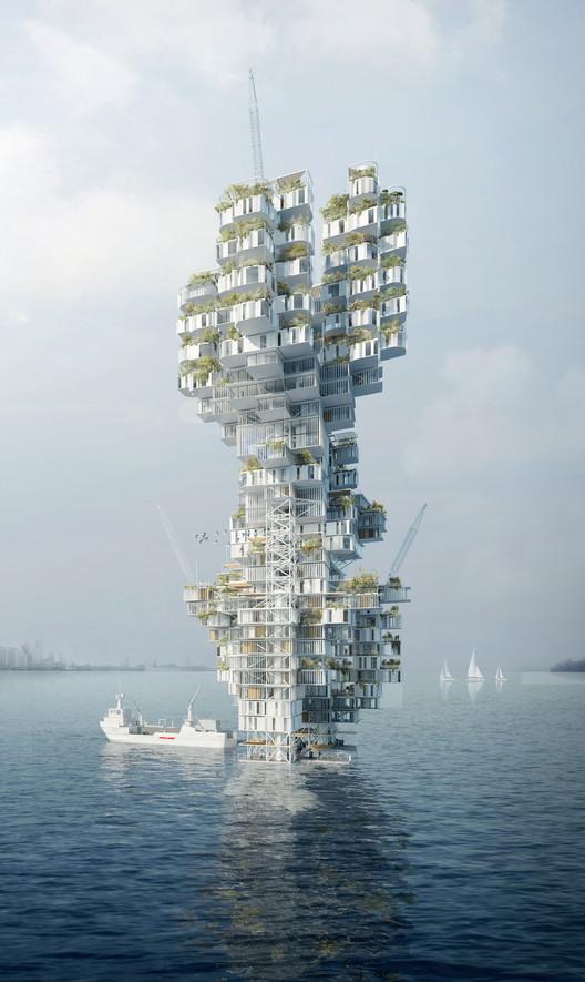 E Mare Libertas: Skyscraper on Water. Image Courtesy of eVolo