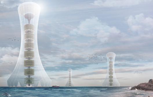 Vapolator: Seawater Extraction Skyscraper. Image Courtesy of eVolo