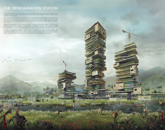 The Reincarnation: Buddhist Skyscraper. Image Courtesy of eVolo
