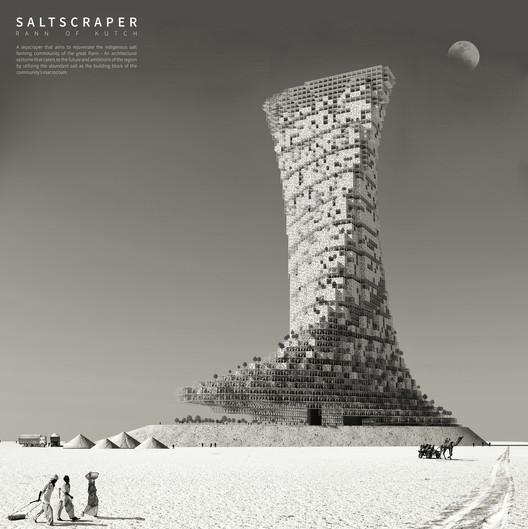 Saltscraper in India. Image Courtesy of eVolo