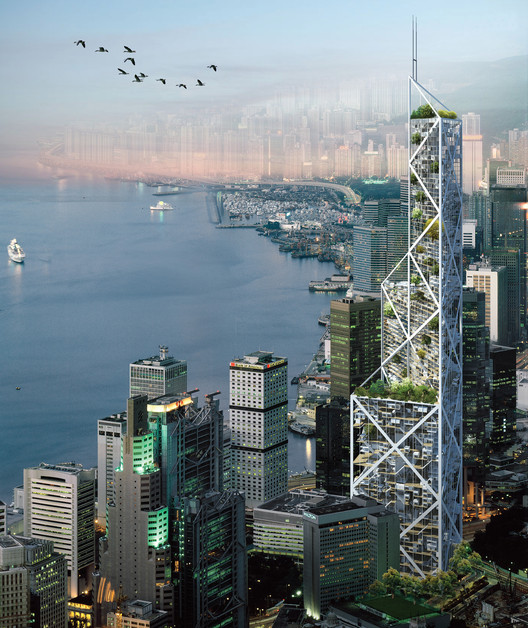 Ever-changing Skyscraper for Post-capitalism World. Image Courtesy of eVolo
