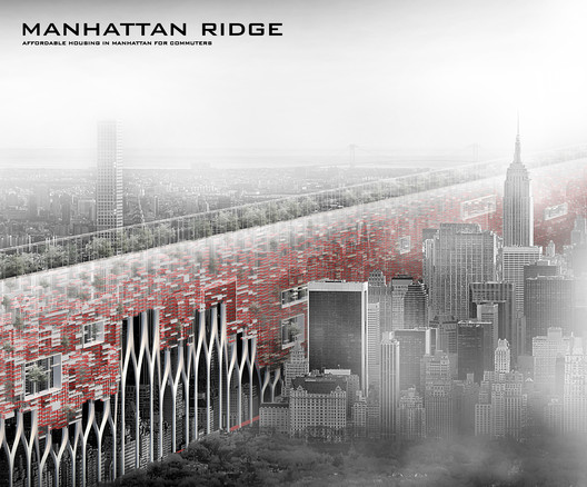 Manhattan Ridge: Affordable Housing for Commuters. Image Courtesy of eVolo