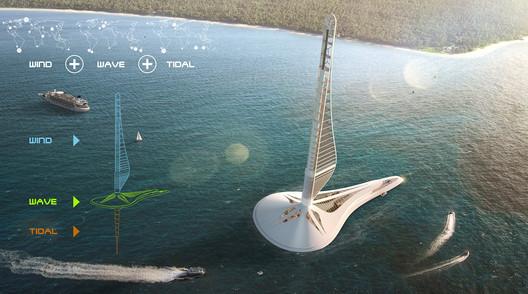 Civilization 0.000: Floating Power Station. Image Courtesy of eVolo