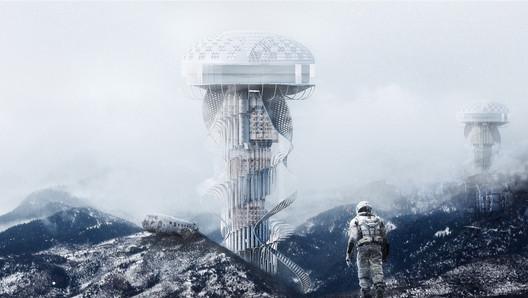 Earth Healer Skyscraper. Image Courtesy of eVolo