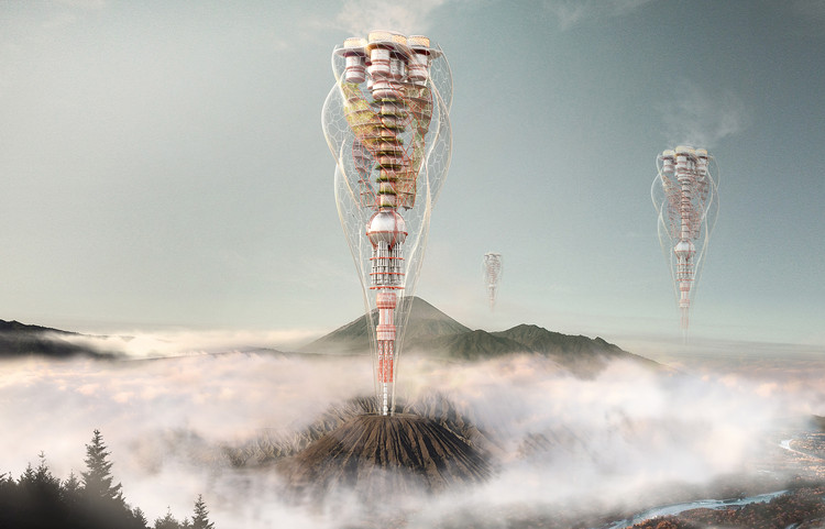eVolo Announces 2018 Skyscraper Competition Winners, Volcanic Tower. Image Courtesy of eVolo