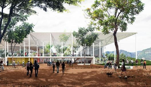 Nuevo centro recreativo del Parque Metropolitano El Tunal en Bogotá / FP Arquitectura. Image Cortesía de FP Arquitectura