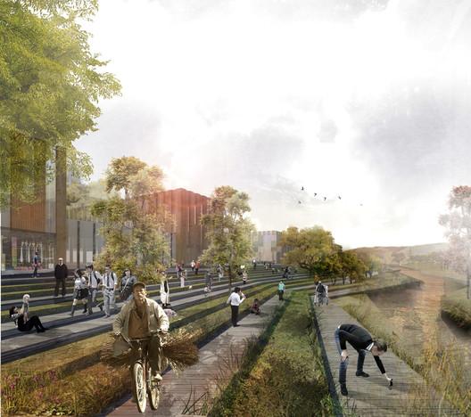 Nueva estrategia de intervención para el río Fucha en Bogotá / MOBO Architects + Ecópolis + Concreta. Image Cortesía de MOBO Architects + Ecopolis + Concreta